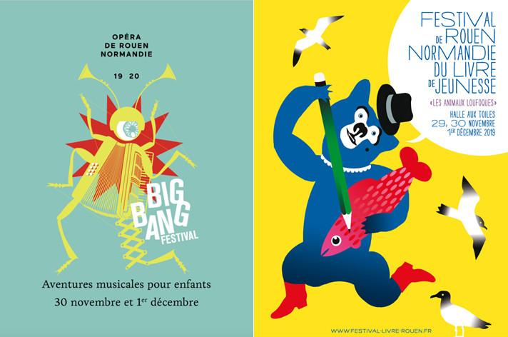 Le week-end du 30 novembre et 1e décembre 2019 se tiennent les festivals Big Bang organisé par l'Opéra de Rouen ainsi que le festival du Livre Jeunesse.