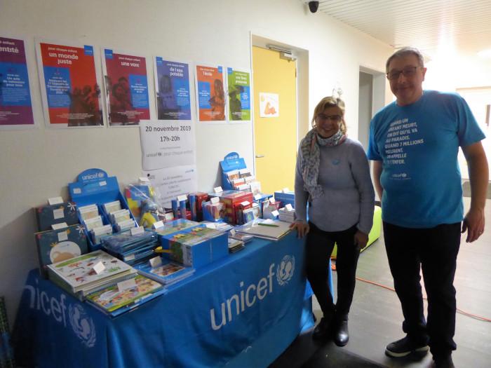 L'Unicef aux Crèches Liberty lors de la journée des droits de l'enfant.