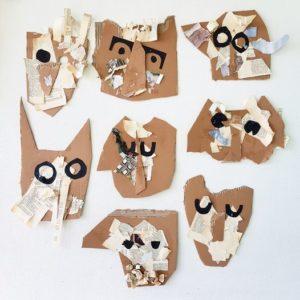 Marie Kuklova masques aux Portes de la forêt